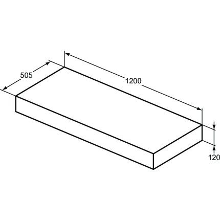 Blat pentru lavoar Ideal Standard Adapto 120x50.5x12cm, maro inchis