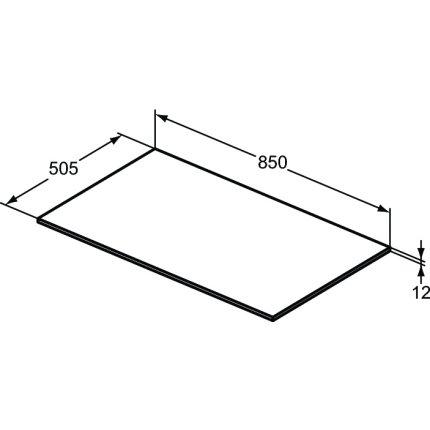 Blat suport pentru dulap suspendat Ideal Standard Adapto 85x50.5x1.2cm, alb lucios