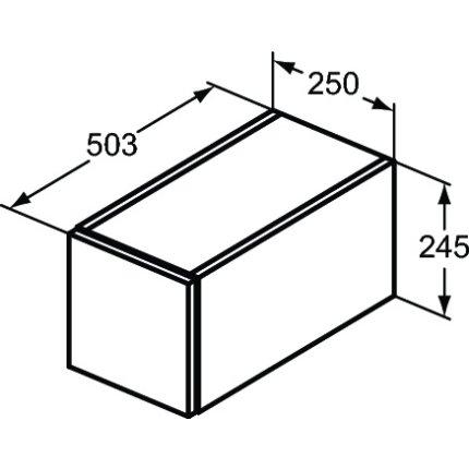 Dulap suspendat Ideal Standard Adapto cu un sertar, 25x50x24.5cm, alb lucios
