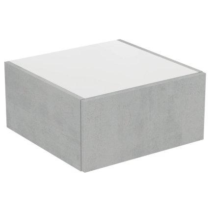 Dulap suspendat Ideal Standard Adapto cu un sertar, 50x50x24.5cm, gri