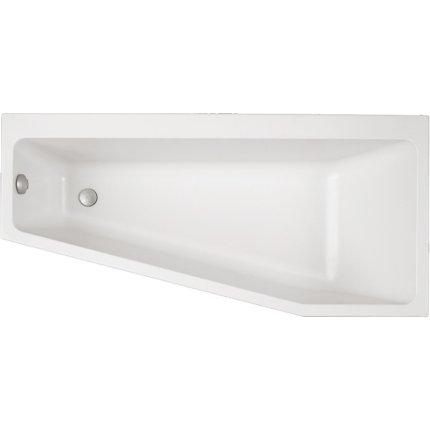 Cada asimetrica Villeroy & Boch Subway 170x80x45cm, acril, orientare stanga, alb alpin