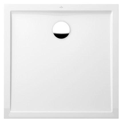 Cadita de dus rectangulara Villeroy & Boch Futurion Flat 90x90cm, alb