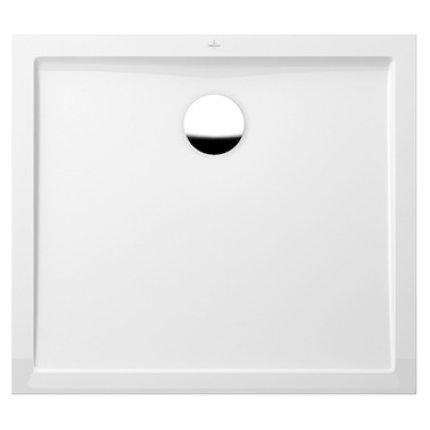 Cadita de dus rectangulara Villeroy & Boch Futurion Flat 100x80cm, alb