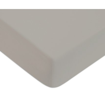 Cearceaf de pat cu elastic Descamps Unis Satin 180x200cm, Natur
