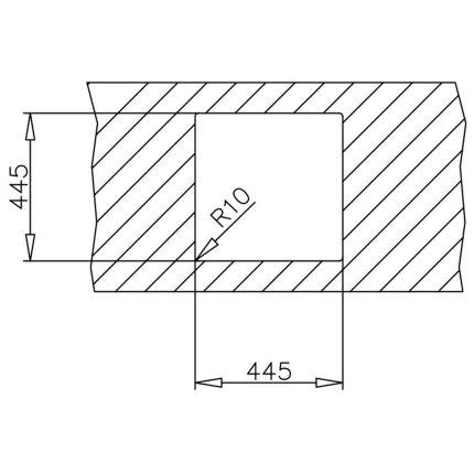 Chiuveta bucatarie Teka Universal E/465.465 1B, 465x465mm, inox