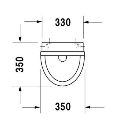 Urinal Duravit Starck 3, alimentare prin spate