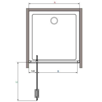 Usa de dus tip pivot Radaway Twist DW 80 cm
