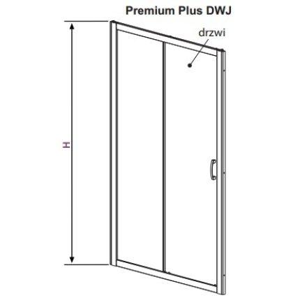 Usa de nisa culisanta Radaway Premium Plus DWJ 100