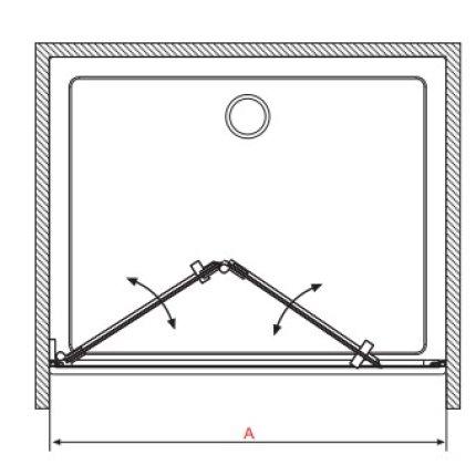 Usa de nisa pliabila Radaway Carena DWB 70 cm orientare stanga