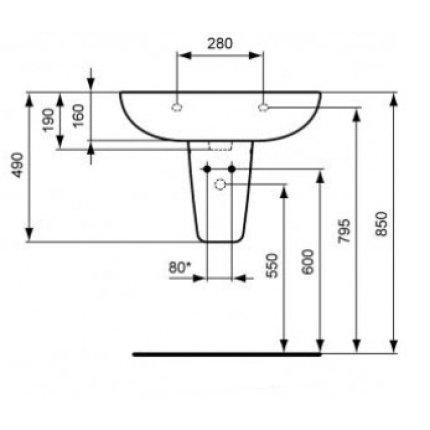 Lavoar Ideal Standard Eurovit Plus 60cm