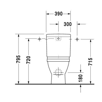 Vas WC Duravit Starck 3 back-to-wall