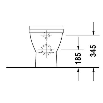 Vas WC Duravit Starck 3 pentru rezervor ingropat