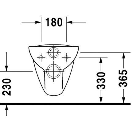 Set vas WC suspendat Duravit D-Code 54.5 cm si capac inchidere lenta