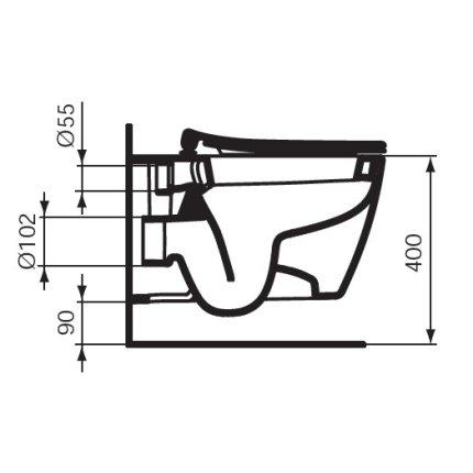 Vas WC suspendat Ideal Standard Connect cu fixare ascunsa