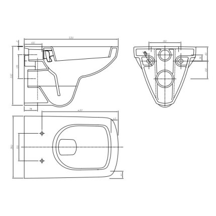 Set vas wc Kolo Nova Pro cu capac inchidere lenta