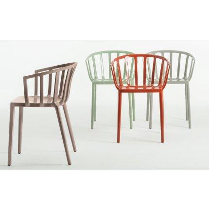 Scaun Kartell Venice design Philippe Starck alb