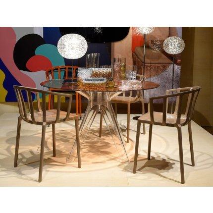 Scaun Kartell Venice design Philippe Starck gri-maro