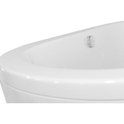 Cada free-standing Besco Victoria 160x75 cm cu masca, culoare Pebble Grey