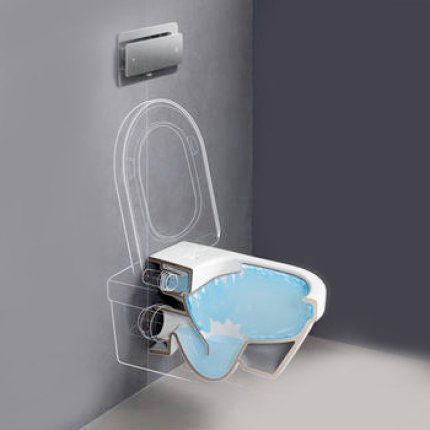 Set vas WC suspendat Villeroy & Boch Omnia Architectura DirectFlush cu capac inchidere lenta