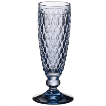 Pahar sampanie Villeroy & Boch Boston Flute albastru 163mm, 0,15 litri