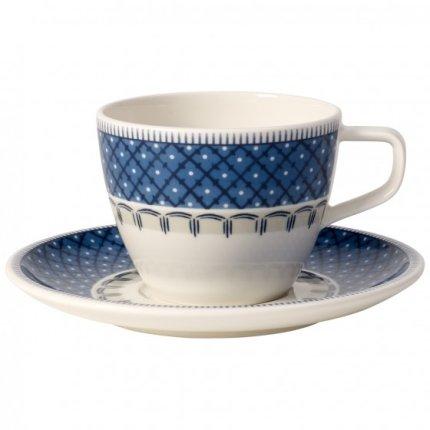 Ceasca si farfuriuta cafea Villeroy & Boch Casale Blu 0.25 litri