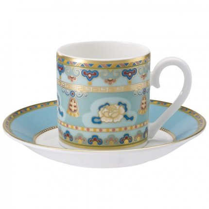 Ceasca si farfuriuta espresso Villeroy & Boch Samarkand Aquamarin