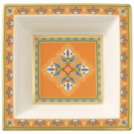 Bol patrat Villeroy & Boch Samarkand Mandarin 10x10cm