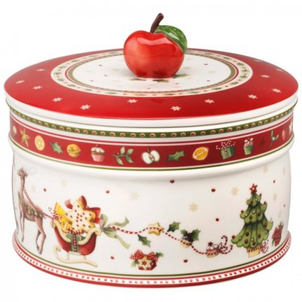 Recipient cu capac Villeroy & Boch Winter Bakery Delight Pastry 17x17cm