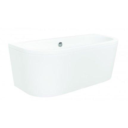 Cada baie rectangulara Besco Vista 160x75cm, compozit, sifon push-open si masti incluse