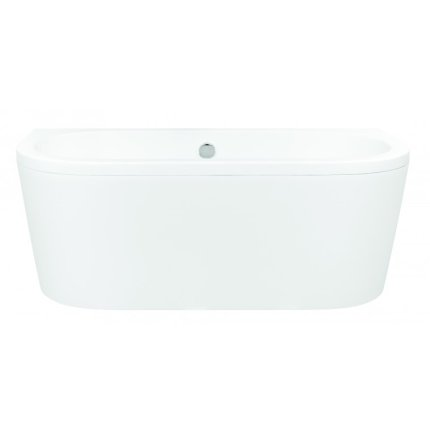 Cada baie rectangulara Besco Vista 170x75cm, compozit, sifon push-open si masti incluse