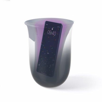 Lexon Oblio statie dezinfectare & incarcare wireless pentru telefoane, alb