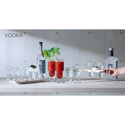 Set LSA International Vodka Duo cu 2 pahare, bol si suport lemn