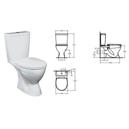 Set vas WC Vidima SevaMix cu rezervor