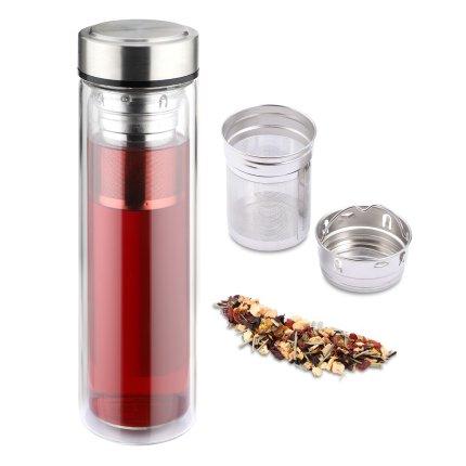 Sticla termos Karl Weis 12955 cu infuzor ceai, 450ml