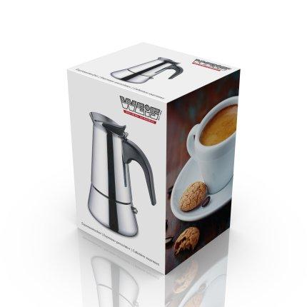 Cafetiera espressor Karl Weis 4 cesti, inox