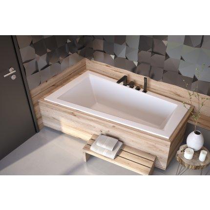 Cada baie asimetrica Besco Intima Slim 150x85cm, acril, orientare stanga