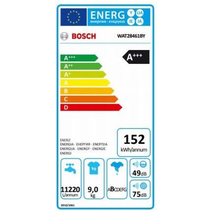 Masina de spalat rufe Bosch WAT28461BY Serie 6, 9kg, 1400rpm, EcoSilence Drive, clasa A+++, alb