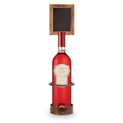 Suport sticla cu tabla de scris Securit Bottle Display 45x11x11,3cm, maro