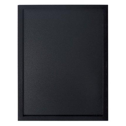 Tabla de scris de perete Securit Woody 60x40x1cm, include marker creta, negru