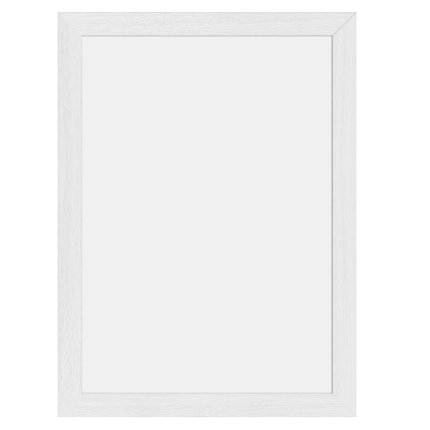 Tabla de scris de perete Securit Woody 40x30x1cm, include doua markere creta, alb