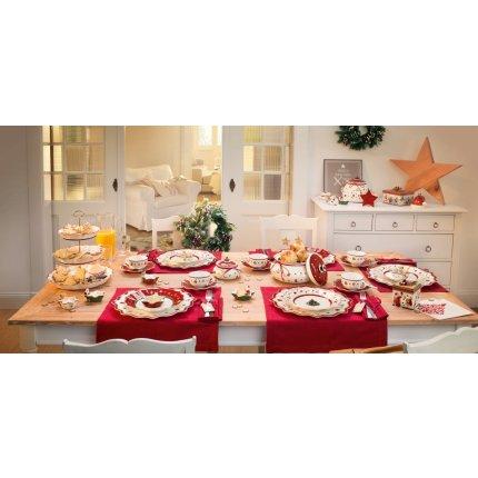 Farfurie patrata Villeroy & Boch Toy's Delight Bread & Butter Red 17cm