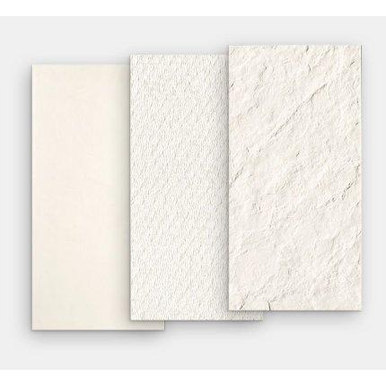 Gresie portelanata rectificata FMG Pietre Trax 60x30cm, 10mm, White Naturale