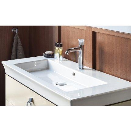 Lavoar Duravit White Tulip 45cm, fara preaplin, montare pe mobilier, ventil ceramic, alb