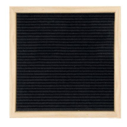 Panou fetru cu rama Securit Letter Board 30x30x2cm, include 360 simboluri, fag