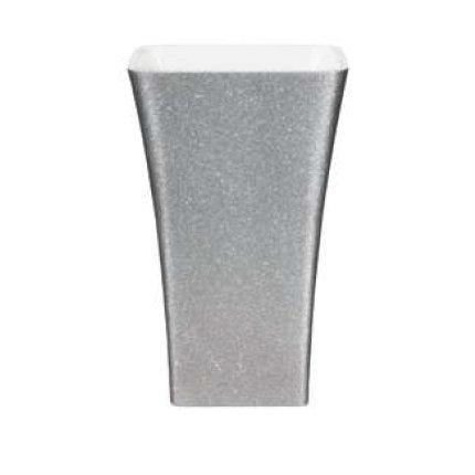 Lavoar pe pardoseala Besco Assos Glam 40x50x85cm, compozit mineral, Silver
