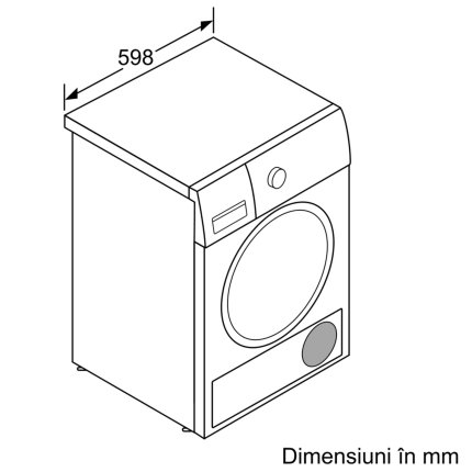 Uscator de rufe Bosch WTR85V00BY Serie 4 cu condensare si pompa de caldura, 7 kg, clasa A++, alb