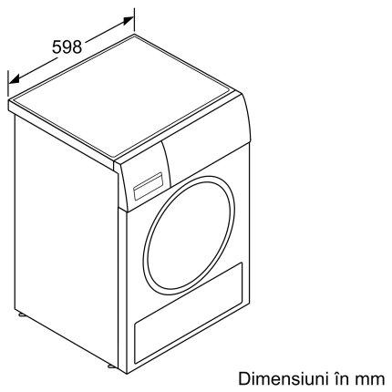 Uscator de rufe Bosch WTX87EH0EU HomeProffessional, 9 kg, Home Connect, SmartDry, clasa A+++, alb
