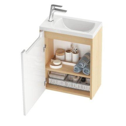 Usa pentru dulap baza Ravak Concept Classic SD 400, stanga, alb