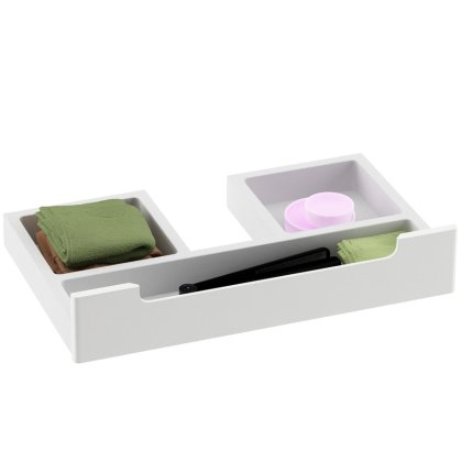 Dulap baza pentru lavoar dublu Ravak Concept Classic SD 1300 cu doua usi, 130x49x47cm, cappuccino-alb