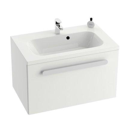 Dulap baza pentru lavoar Ravak Concept Chrome SDU 700 cu un sertar, 70x49x47cm, alb